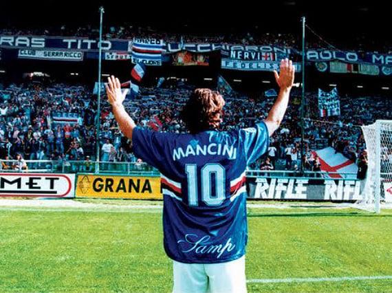Манчини-игрок: бил одноклубников, управлял трансферами и сделал для «Сампдории» больше, чем Тотти для «Ромы»