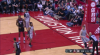 Clint Capela rattles the rim on the finish!