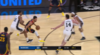 Stephen Curry hits the shot with time ticking down