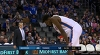 Paul George rattles the rim on the finish!