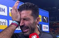 Буффон плачет после завершения карьеры в сборной Италии