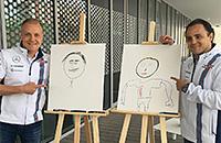 Гонщики «Уильямса» нарисовали друг друга