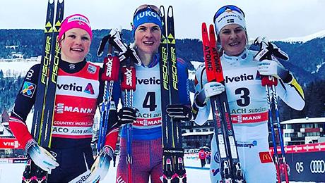 Долгожданная победа России в женских лыжах