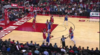 Clint Capela rises to block the shot