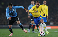 Бразилия – Уругвай. Показываем Неймара, Суареса и Кавани