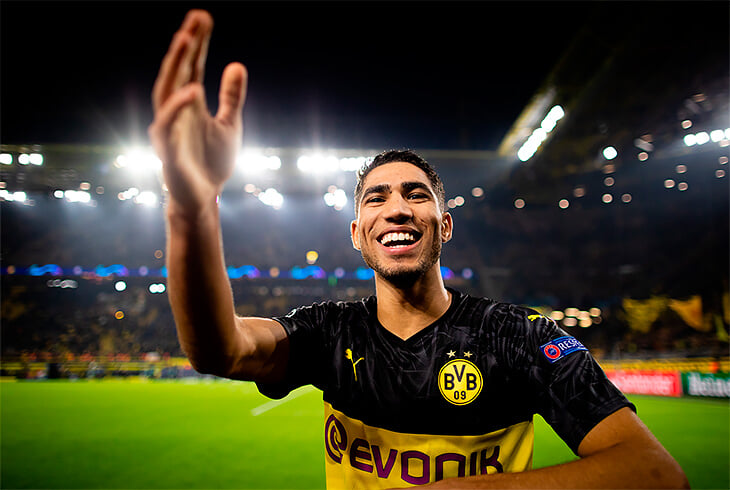 Хакими – самый быстрый игрок Бундеслиги. Его все еще считают защитником, но он ведет атаку Дортмунда наравне с Санчо и Ройсом