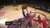 LeBron James slams it home