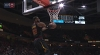 LeBron James goes up to get it and finishes the oop