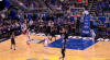 Great assist from D.J. Augustin