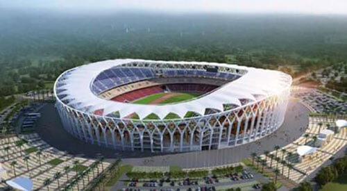 Собрали стадионы, которые откроют в этом году. Один похож на звезду, самые большие – в Африке