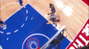 Blake Griffin rattles the rim on the finish!