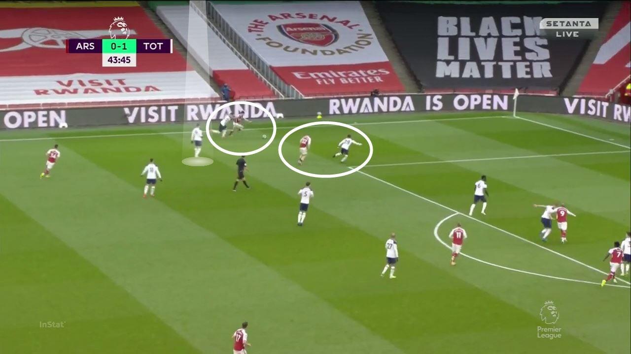 «Арсенал» доминировал в дерби 75 минут (постоянно вскрывали фланг Бэйла). Но тотально провалил концовку, играя в большинстве