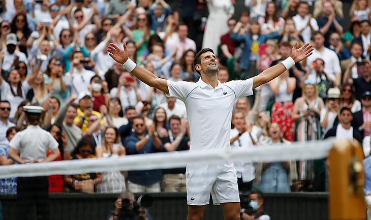 👑Джокович – король тенниса! Выиграл 6-й «Уимблдон» и 20-й «Шлем», повторив рекорд Федерера и Надаля
