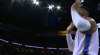 Russell Westbrook rattles the rim on the finish!