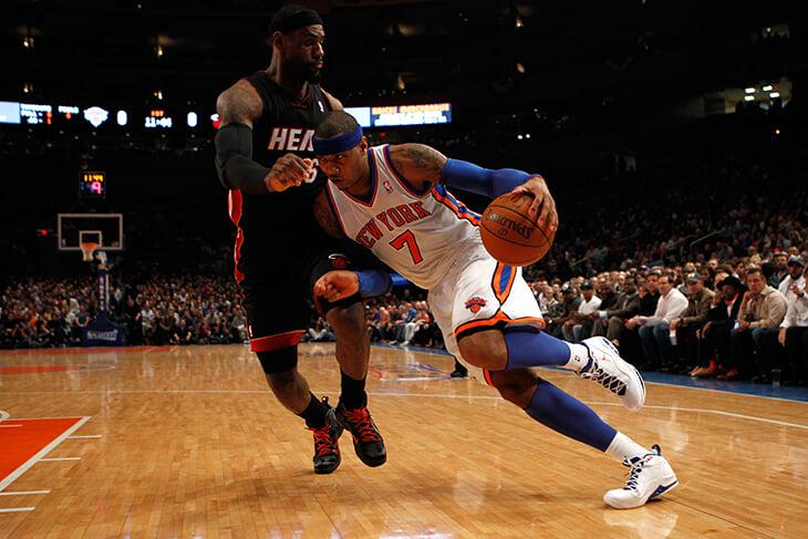 В новом сезоне Леброн и Кармело впервые сыграют за одну команду НБА. Они дружат почти 20 лет (Джеймс даже спас Энтони жизнь!) и мечтали об этом со школы