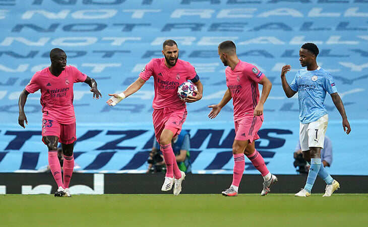 Как же заряжен Бензема: первым мчит к центру поля вместо празднования, когда «Реалу» надо забивать еще