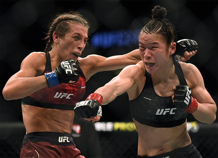 Чжан и Енджейчик выдали лучший женский бой в истории UFC