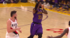 JaVale McGee scores off the great dish by LeBron James