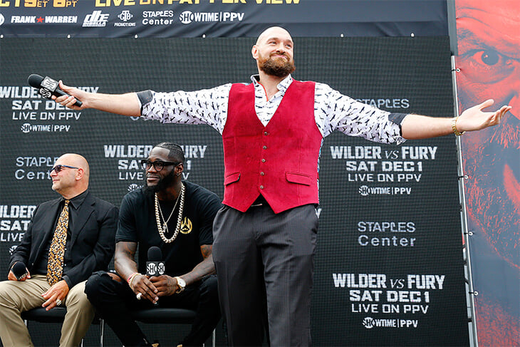 4 года назад Фьюри весил 170 кг и благодарил Уайлдера за мотивацию вернуться. Трансформация Тайсона – голливудский сюжет