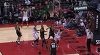 Giannis Antetokounmpo with the rejection vs. the Raptors
