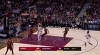 LeBron James gets up for the big rejection