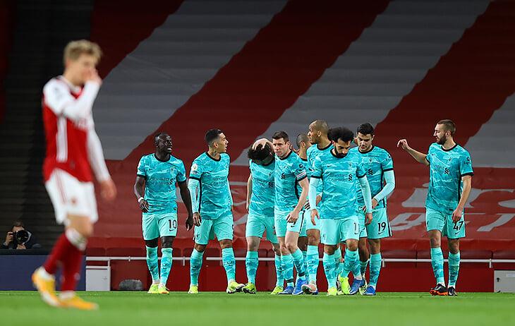 «Ливерпуль» уничтожил «Арсенал» (3:0 – и Артета признал, что могло быть больше): мощный прессинг + свежий Трент + 4-2-4-0 во втором тайме