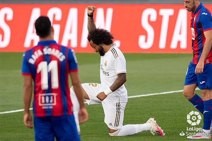 Зидан сказал, что «Реал» ждут 11 финалов – первый выигран. Марсело отметил гол, встав на колено, Куртуа тащил, а потом грустно пропустил между ног