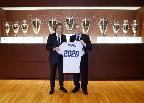 Модрич подписал новый контракт с Реалом и радуется