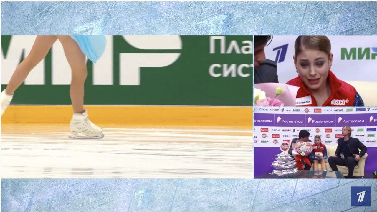 Косторная разрыдалась после ошибки в прокате: Розанов утешал, Плющенко молчал