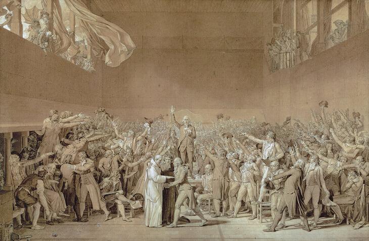 Великая Французская революция началась на (почти) теннисном корте. Там буржуазия бросила вызов королю