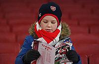 премьер-лига Англия, Арсенал, болельщики, Вест Бромвич, Бернли, Абердин