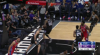 Ben Simmons rattles the rim on the finish!