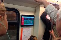 Матч сборной показывали в метро. Это точно Россия?