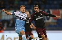 «Лацио» принимает «Милан» в полуфинале Кубка Италии. Видеотрансляция матча