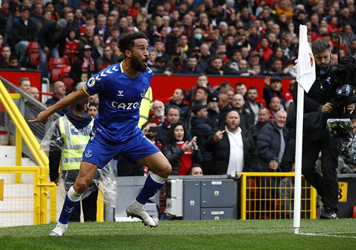 Таунсенд принес «Эвертону» ничью с «Манчестер Юнайтед». И отпраздновал в стиле Криштиану – в знак уважения