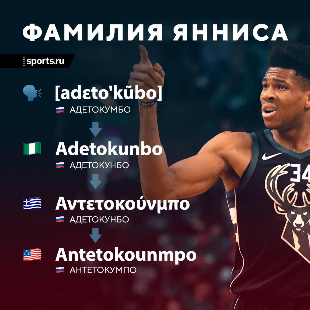 Как зовут лучшего игрока НБА – Яннис Адетокумбо, Адетокунбо или Антетокумпо? Разбираемся, как правильно