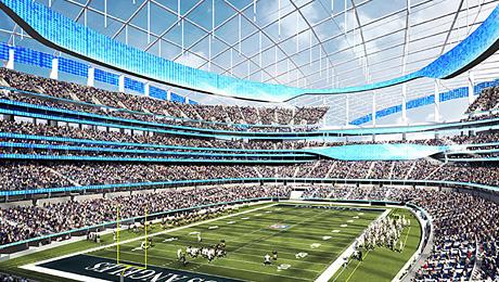 Стадионы, которые строят в США прямо сейчас