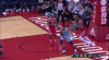 Garrett Temple rattles the rim on the finish!