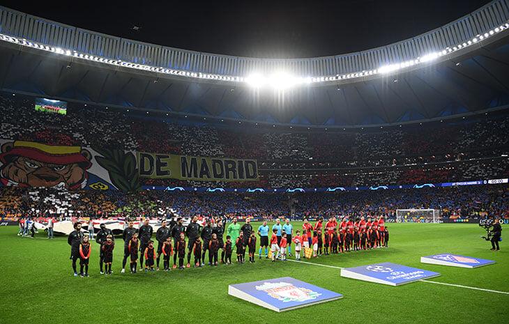 Фанаты «Атлетико» и «Боруссии» встретили ЛЧ элегантными перфомансами. А в Мадриде был еще горячий коридор из файеров