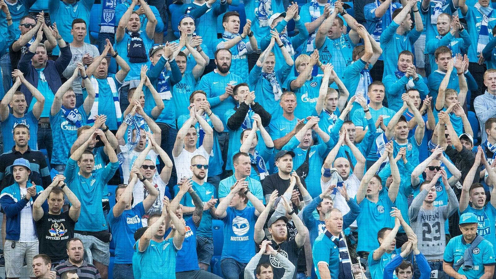Фанаты Зенита на стадионе
