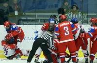 юниорская сборная Чехии жен, юниорская сборная России жен, драки, юниорский чемпионат мира жен, женский хоккей
