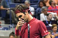 Федерер на US Open провел один из худших матчей в карьере. Он не справился с жарой