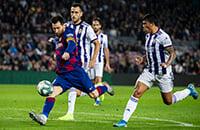 Барселона, Лионель Месси, Эрнесто Вальверде, Ла Лига, Артуро Видаль, Вальядолид, Луис Суарес