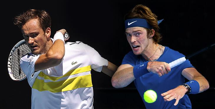 Медведев против Рублева в четвертьфинале Australian Open. Онлайн
