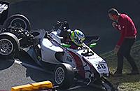 Опасная авария в гонке «Формулы-4»