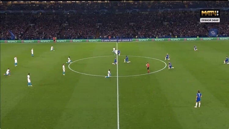 Крицюк, Кузяев, Сутормин, Чистяков и Ракицкий не встали на колено перед матчем, другие легионеры Зенита и игроки Челси сделали это