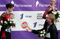 Этери Тутберидзе, Александра Трусова, Дарья Усачева, Евгений Плющенко