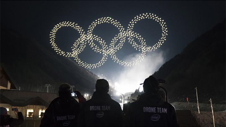 Шоу дронов Intel на церемонии открытия Олимпиады. Очень красиво