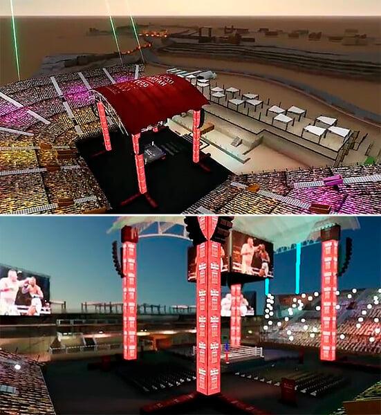 Стадион для реванша Джошуа – Руис начали строить за 53 дня до боя. Арена вместит 15 тысяч человек