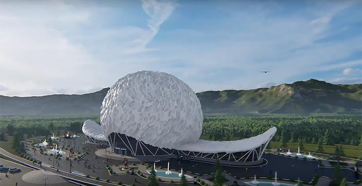 В Дагестане предложили построить «Хабиб-Арену» – она в форме гигантской папахи